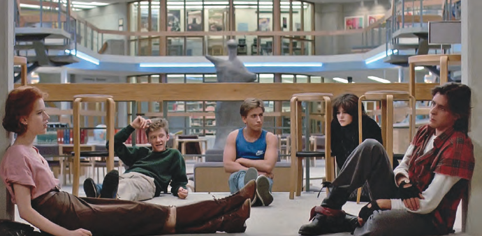 The Breakfast Club, 1985, John Hughes (photo used with permission from Universal Studios)